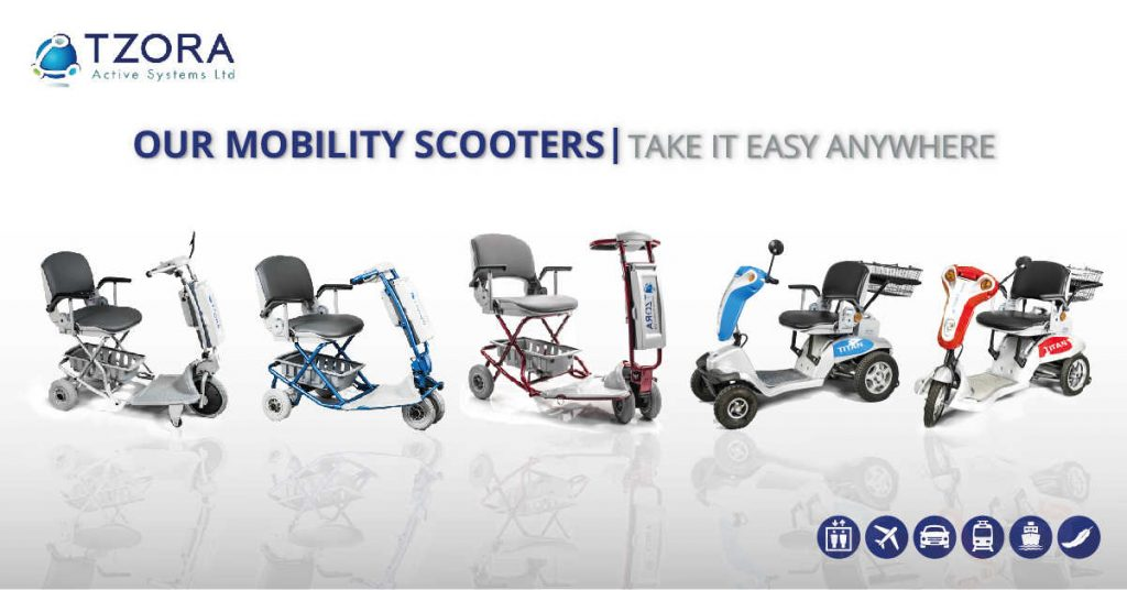 The full range of mobility scooters from Tzora
