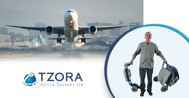 Travel by Tzora mobility scooters on a plane